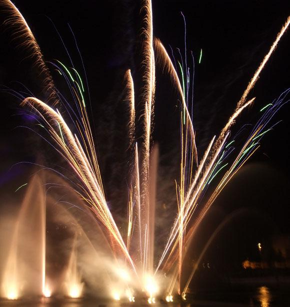 Feuerwerk in den Abendstunden an Silvester