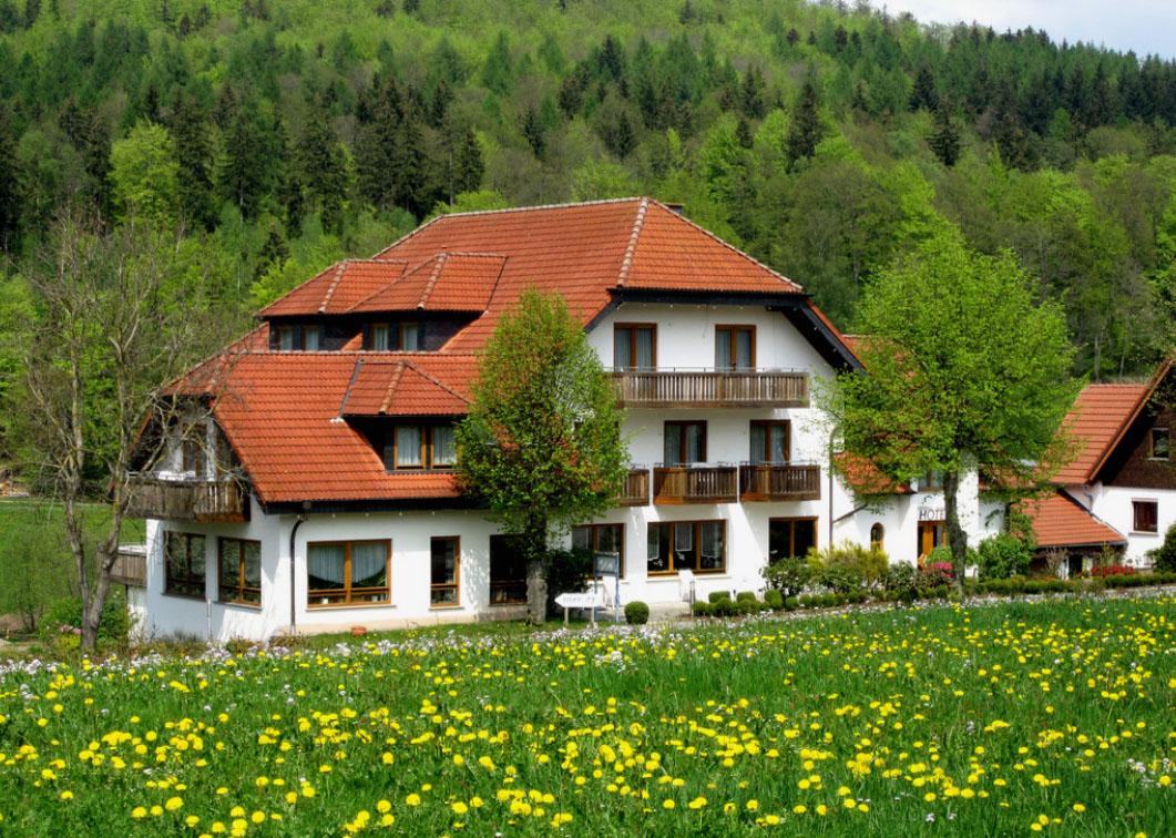 Rhön-Hotel Aussenansicht im Grün