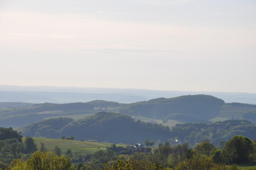 Blick über die Landschaft nahe des Rhön-Hotels