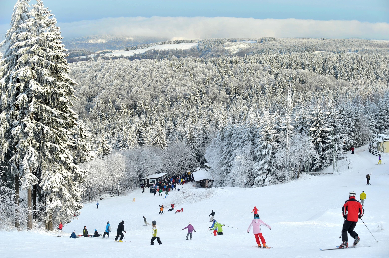 Schnee Spass während Weihnachten in der Rhön